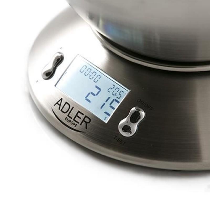 Cantar bucatarie Adler, AD3134, 5 kg, Inox