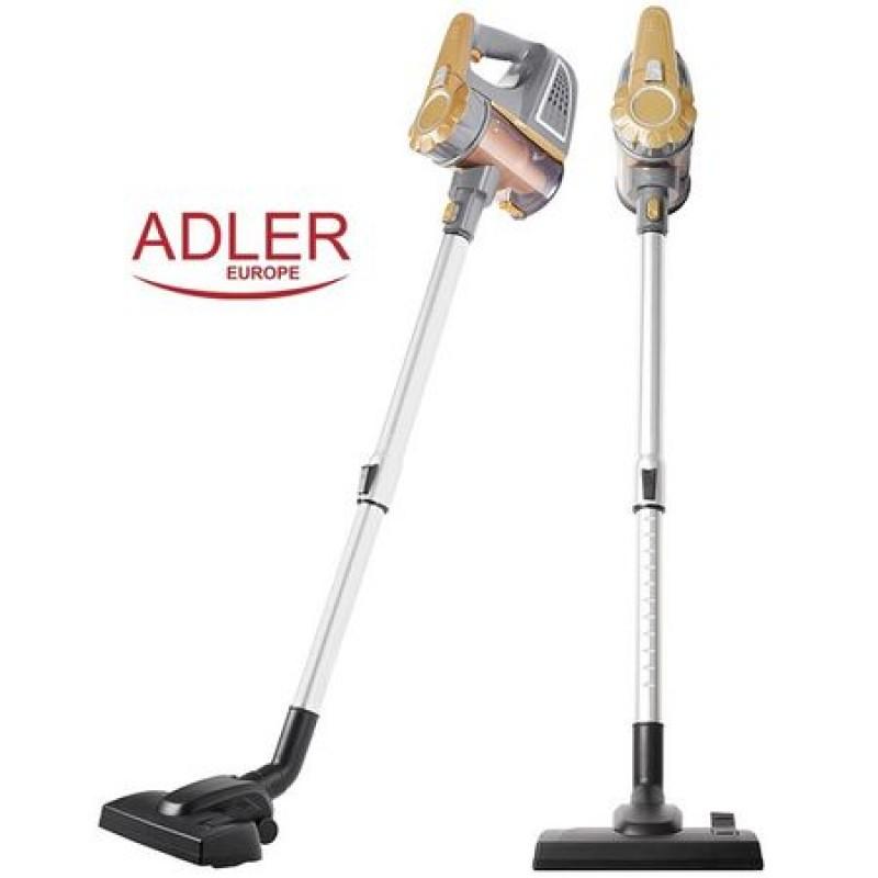 Aspirator de mana vertical AD 7036, Adler, Alb/Auriu,,800W, Filtru Lavabil, Cablu 7m
