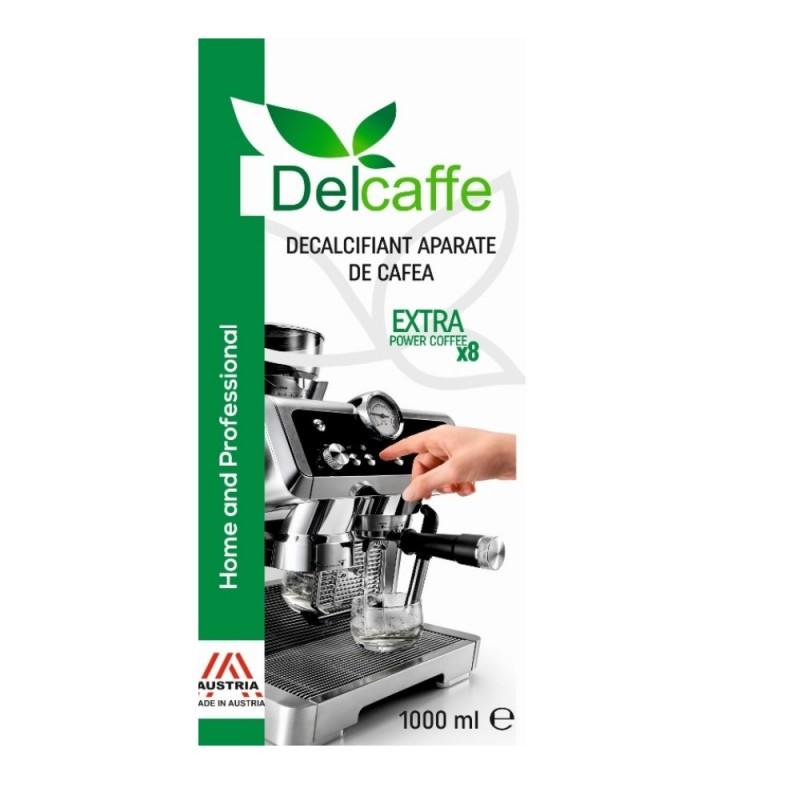 Decalcifiant pentru indepartarea calcarului, DelCaffe , Extra Power Coffee X8, pentru 8 decalcifieri