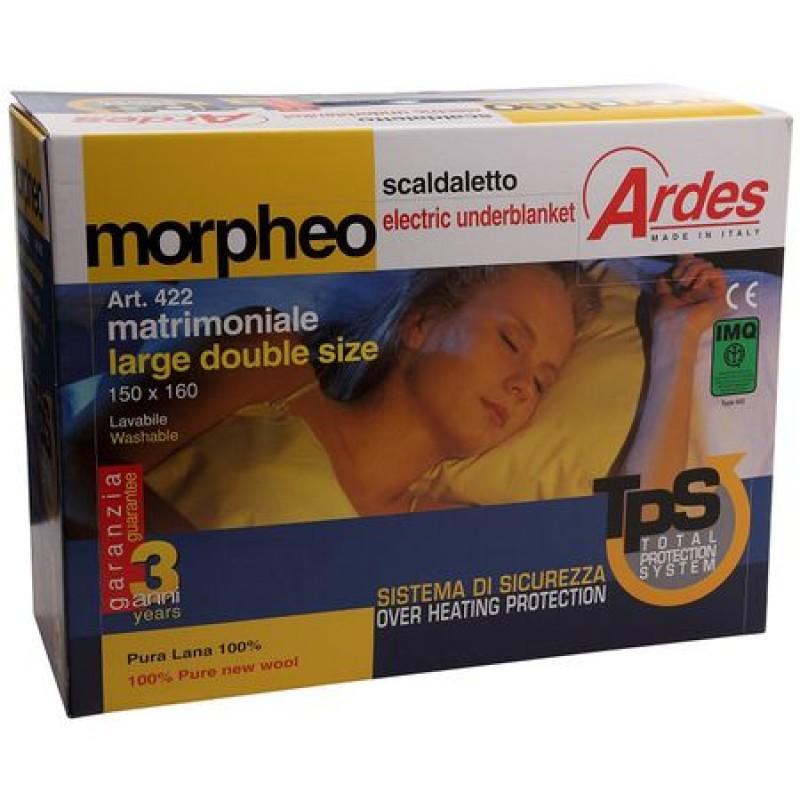 Patura electrica lana pentru saltea pat matrimonial Morpheo AR423, 150 x 160 cm, Sistem de siguranta TPS