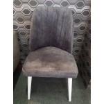 Scaun Alfa Smart Living Studio Casa Tapitat Cadru Lemn White +Textil Grey