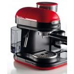 Espressor Manual Ariete Moderna, 1318Bkrd Rosu, 1080W, Rasnita Incorporata, Sistem Cappuccino, 15 Bar