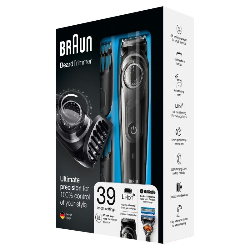 Aparat pentru ingrijirea barbii BT5042 Braun, 0.5 - 10/20 mm, acumulator, Negru