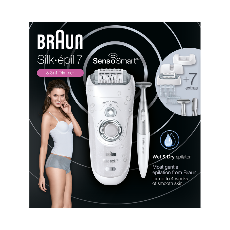 Epilator Silk-epil 7 7/890 SensoSmart + Trimmer