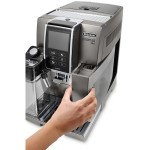Espressor Automat Delonghi Dinamica Plus Ecam.370.95.T, 1.8L, 1450W, 19 Bar, Gri Inchis-Argintiu