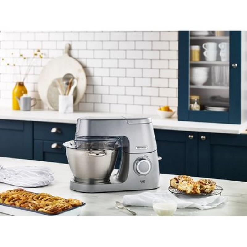 Robot de bucatarie Kenwood Chef Elite KVC5300S, Vas 4.6L, 1200 W, Argintiu