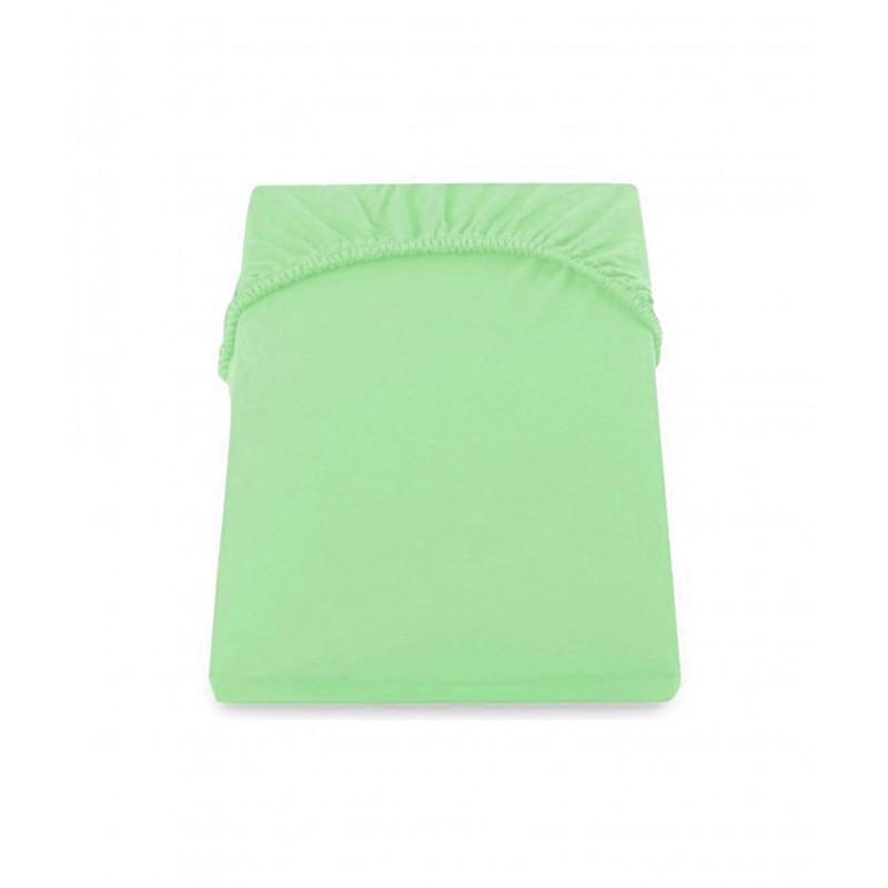 Cearceaf De Pat Cu Elastic 160*200+28 Cm  Yuny  Mally Home – 100%Bbc - Verde