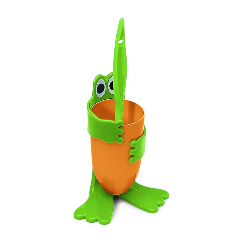 """SET - Perie WC 41cm """"FROGGY"""" + Perie unghii 12.5cm  """"FROGGY"""" - Coronet"""
