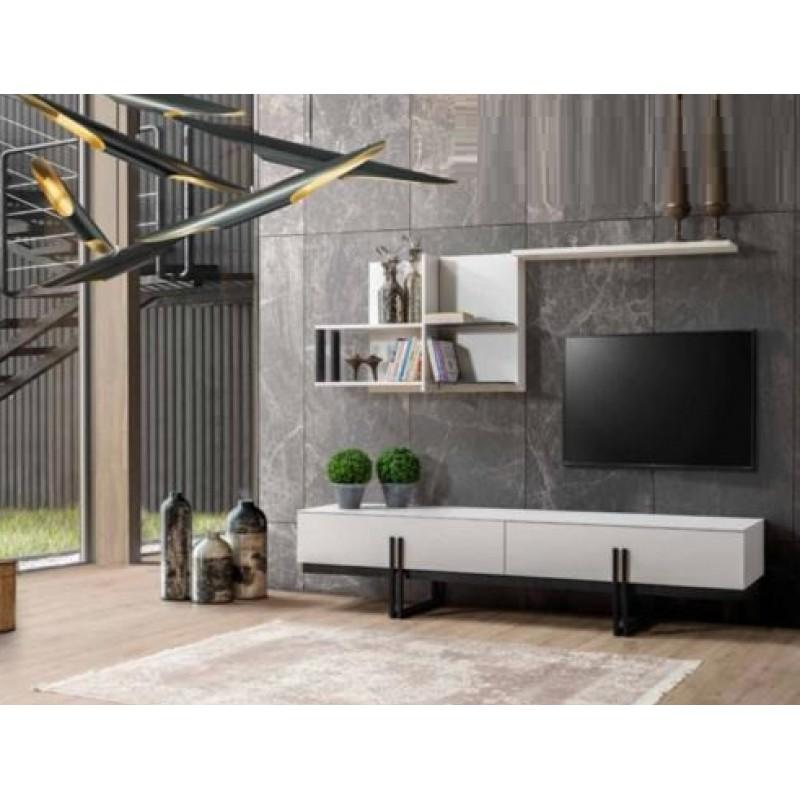 Biblioteca Line Studio Casa, Pal 36 Mm, Alb, L 2090 X L 465X H 450