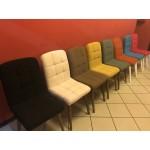 Scaun Retro Smart Living Studio Casa, Tapitat, Cadru Lemn Natur+Textil Galben