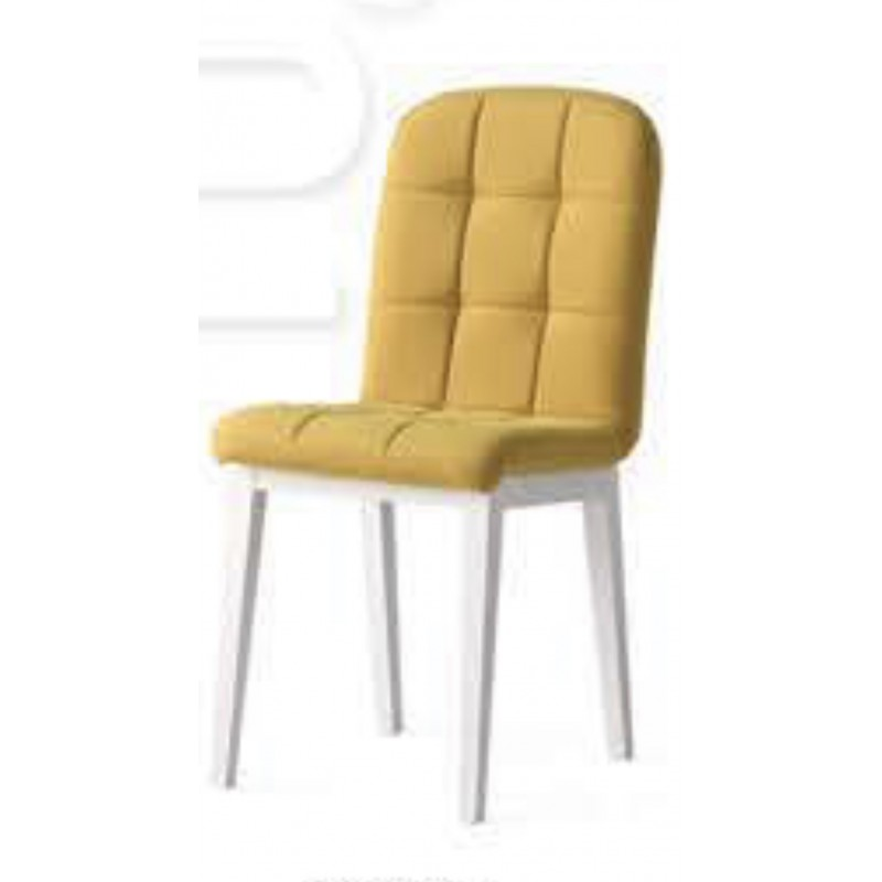 Scaun Elite Lux Smart Living Studio Casa Cu Spatar Tapitat , Cadru Lemn Alb +Material Textil Glaben