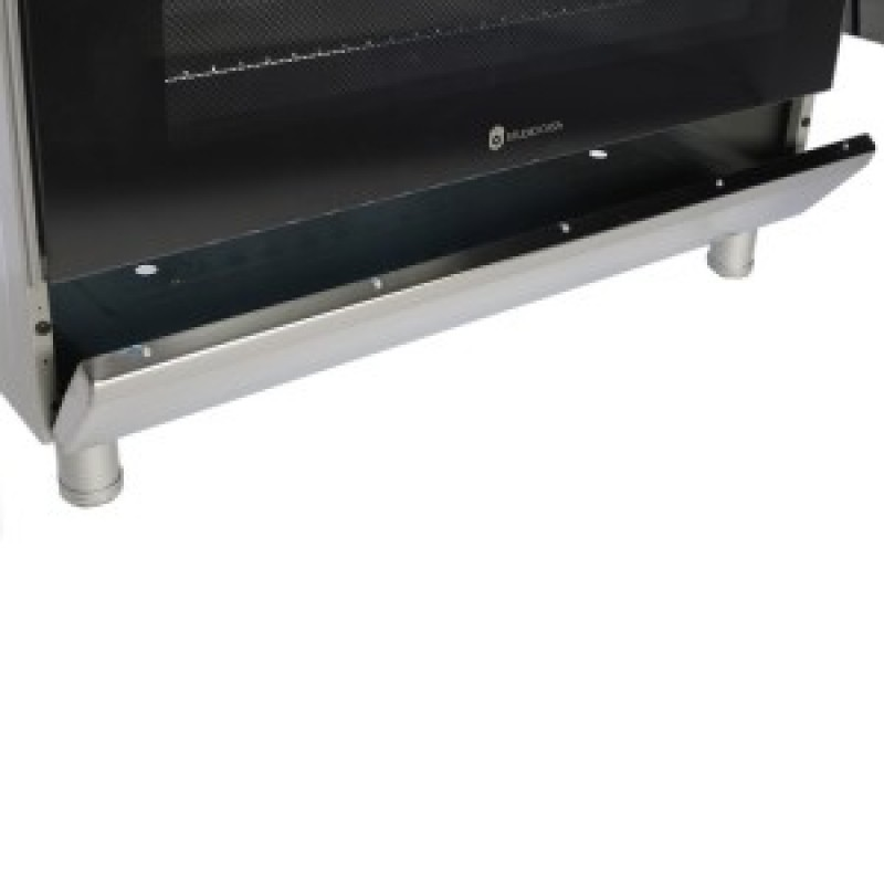 Aragaz clasic 5 arzatoare gaz, Cuptor gaz, 90x60cm, Studio Casa, FE90/60 Inox, Grill, Rotisor, Aprindere electrica