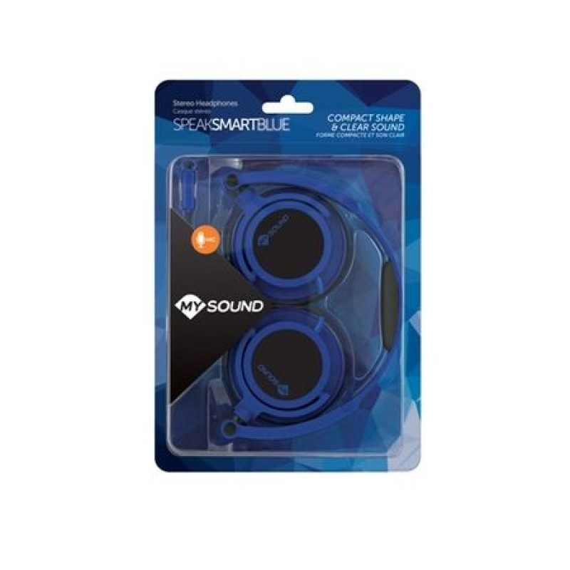 Casti audio Meliconi Speak Smart Fluo Blue, Albastru