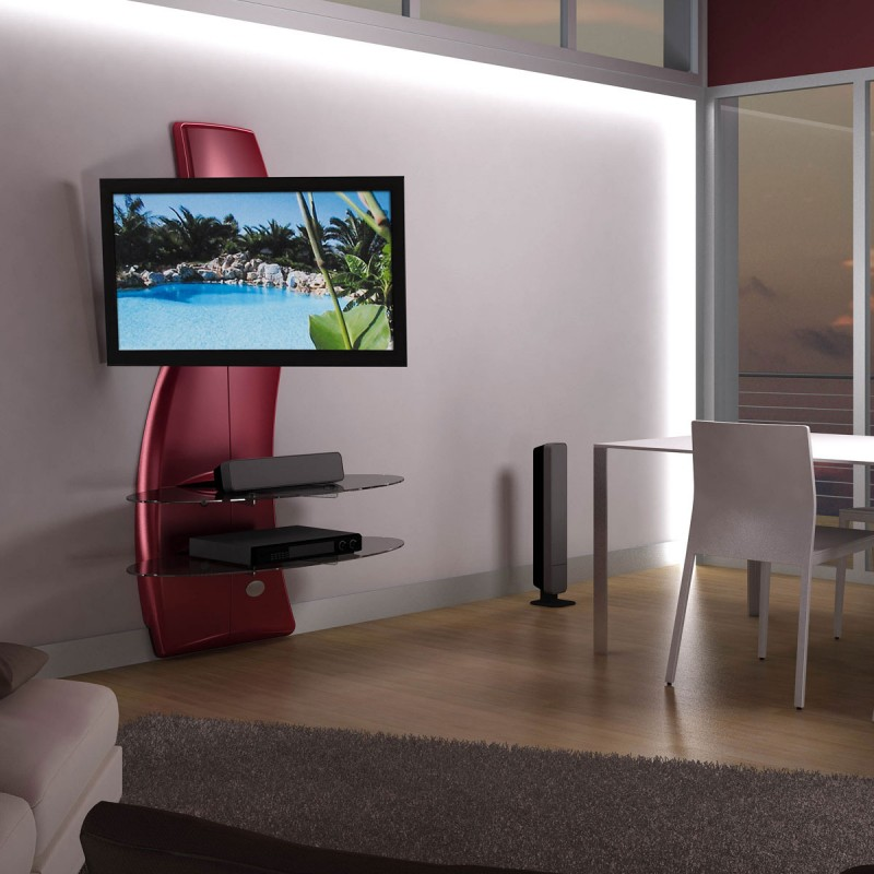 Suport TV Ghost Design, Meliconi 2000 Metalic Red