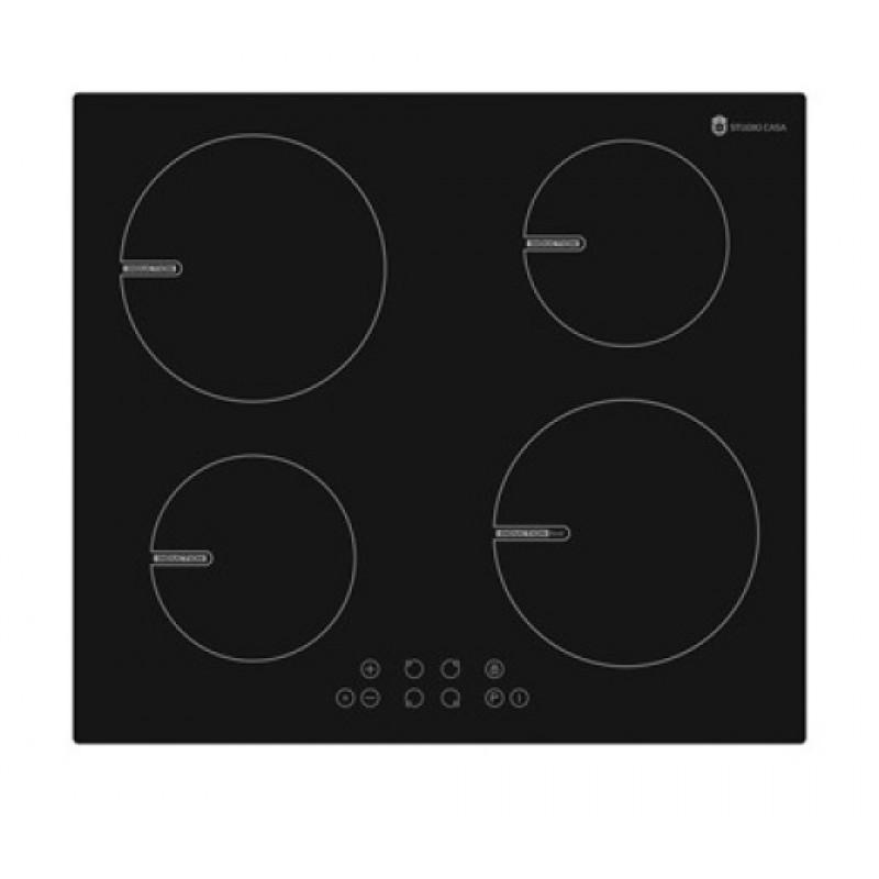Plita Incorporabila Studio Casa Indra 60 Boost Inductie, 5800 W, 4 Zone, 60 Cm, Sticla Neagra