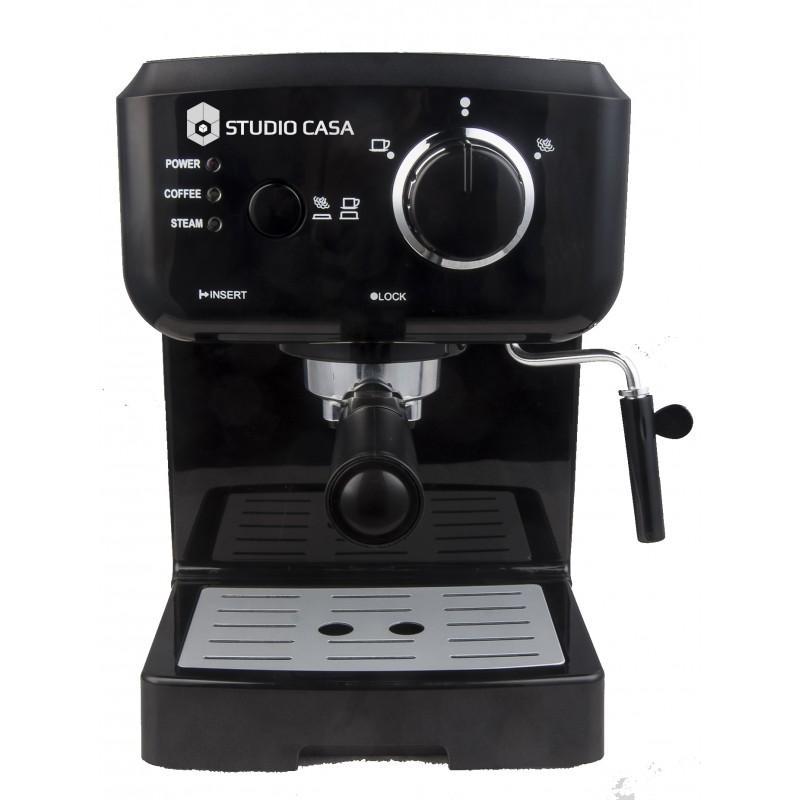 Espressor cafea Caffe Crema SC 1901, Studio Casa, 15 bari, 1.5l, 1050w, Negru