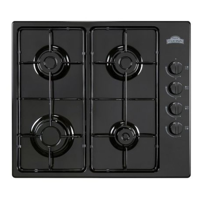 Plita Clasica Gaz, Incorporabila, 4 Arzatoare, Nuova Cucina PG60, Valva de siguranta, Black
