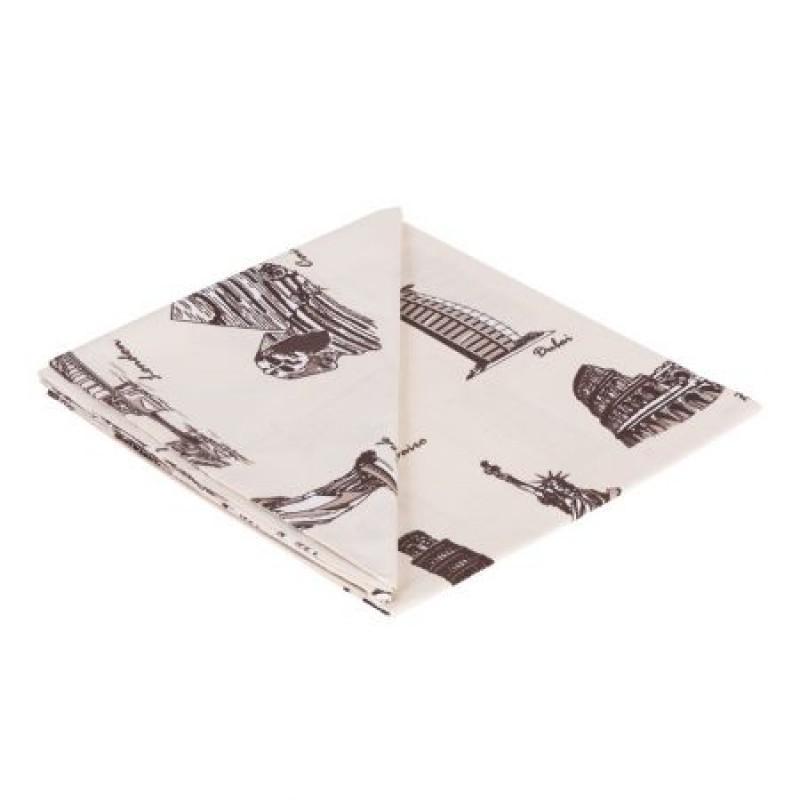 Cearceaf De Pat Cu Elastic 2 Persoane 160X200+25 Cm Studio Casa-City Mix, Bumbac