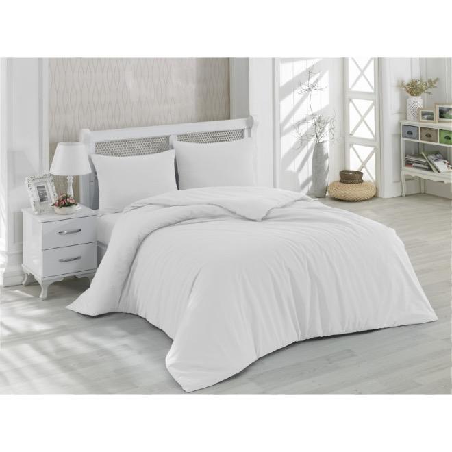 lenjerie alba de lux pentru pat dublu